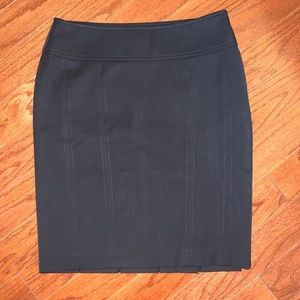 Express black pencil skirt with pleats in back